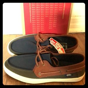 Vans Chauffer Shoes (Navy/Forest/Brown) New in Box